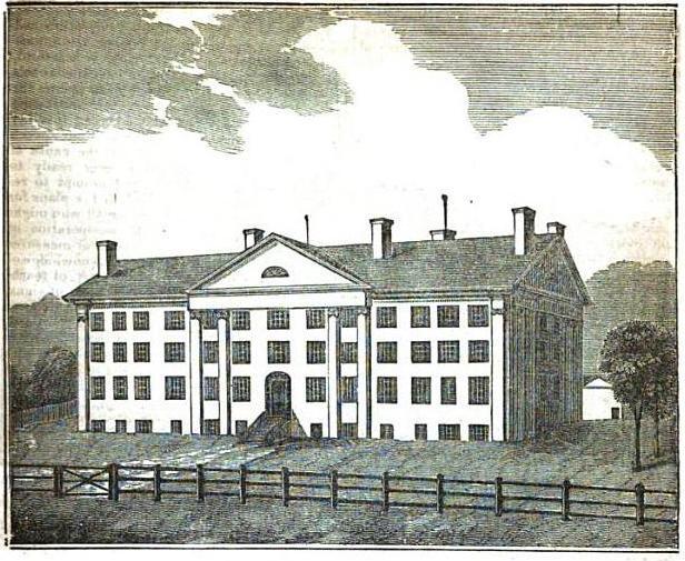 Dessin représentant la première école américaine pour les sourds en 1820