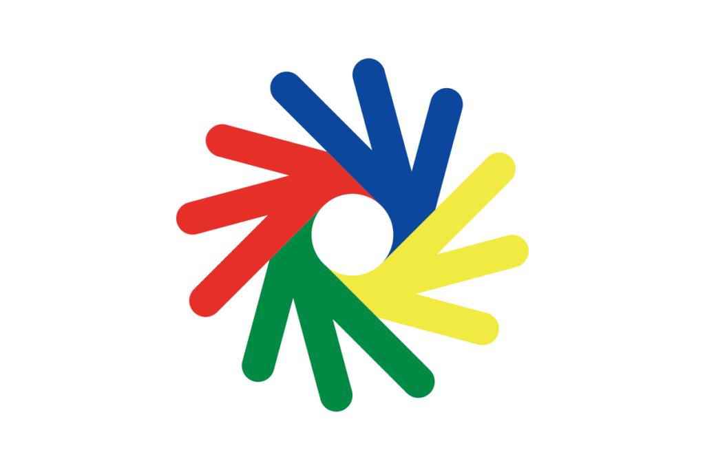 Logo des Deaflympics (jeux olympiques des sourds)